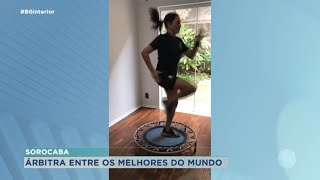 Primeira mulher a arbitrar campeonato de futsal masculino mora em Sorocaba