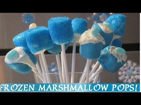 FROZEN Marshmallow Pops! DIY – 3 Easy Ways to make Marshmallow Pops! Inspired by Disney Frozen Movie