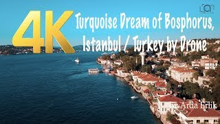 Video 4K Turquoise Dream of Bosphorus, Istanbul / Turkey by Drone MP3, 3GP, MP4, WEBM, AVI, FLV November 2018