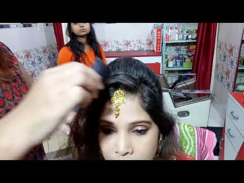 Easy hairstyles - How to set maang tikka / Four roll bun simple and easy hairstyle