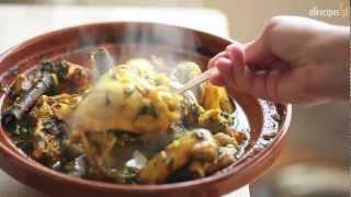 Tadżin z kurczaka z karmelizowanymi gruszkami