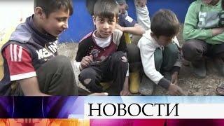 Съемочная группа Первого канала побывала влагере беженцев вИракском Курдистане.