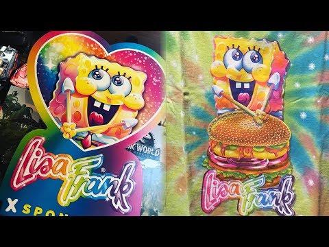 Lisa Frank & Spongebob Squarepants TEAM UP For a #TBT Merch Line