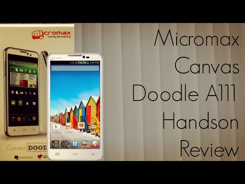 handson - http://androidadvices.com/micromax-canvas-a111-doodle-specs-features-info/ The review of the Micromax Canvas Doodle A111 Smartphone. Check out the unboxing a...