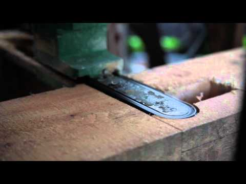 Timber - This video shows a custom timber framing jig in use to cut a door post. It is speeded up 4x. The jig has an articulated Mafell bandsaw, a modified radial arm...