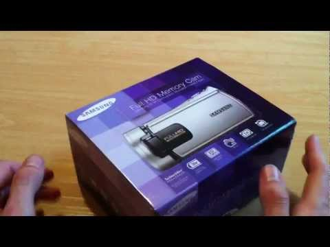SAMSUNG HD-Camcorder HMX-H300 – Rot + Etui MSEC-4K – schwarz + SDHC-Speicherkarte 8 GB + HDMI-Kabel HDMI-Stecker – Mini-HDMI-Stecker, vergoldet (1,5 m)