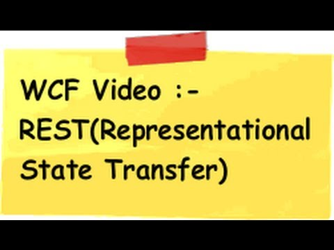 rest - In this video we will try to understand the 5 important WCF principles and then in the second part of video we will see how to implement the same using WCF s...