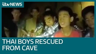Video Joy as mission 'impossible' saves boys and coach from Thai cave | ITV News MP3, 3GP, MP4, WEBM, AVI, FLV Juli 2018