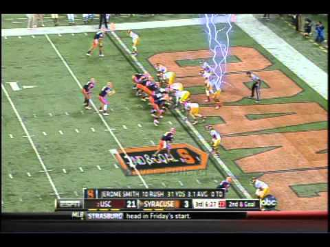 Xavier Grimble and USC vs Syracuse 2012 game highlights video.