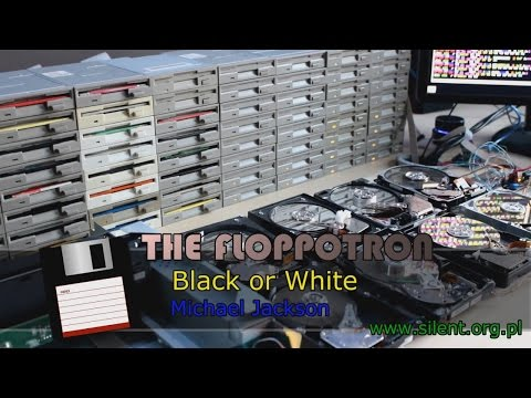 Michael Jackson s Black Or White on The Floppotron Computer Hardware