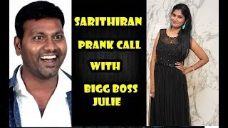 Video sarithiran prank call With Bigg Boss Julie - Julie Getting Bulb - Funny prank call MP3, 3GP, MP4, WEBM, AVI, FLV Maret 2019