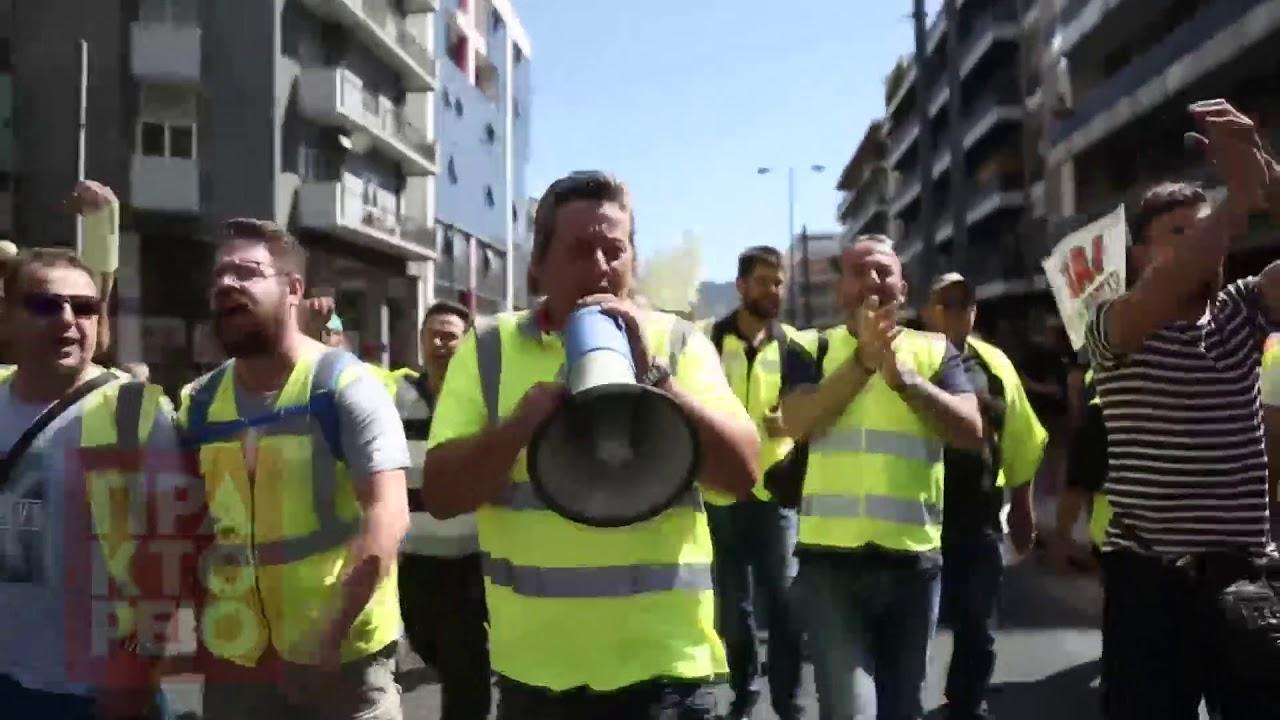 Ολοκληρώθηκε η πορεία των εργαζομένων στα μεταλλεία Κασσάνδρας Χαλκιδικής