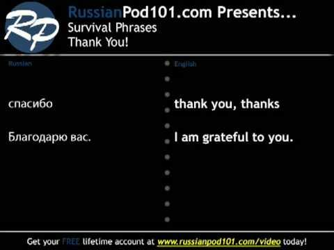 Russisch lernen - Survival Sätze Nr. 1, wie zu sagen, Danke.
