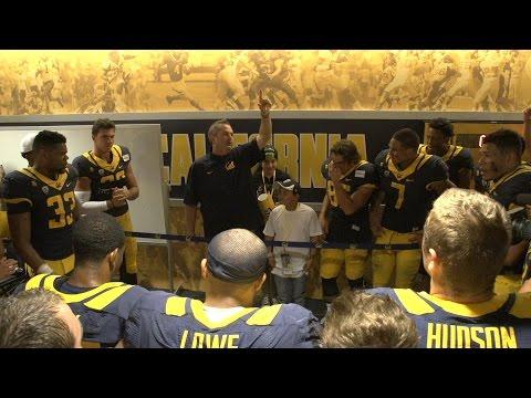 Cal Football%3A Post game locker celebration %28Colorado%29