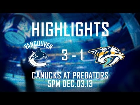 Canucks - Ryan Kesler scored 2 of the 3 Canucks goals and helped to secured the Canucks 3-1 win over the Nashville Predators. Subscribe to the official Canucks YouTube...