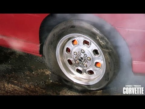Tire blows in GTO burnout attempt