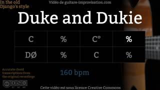 Cours vidéos en Jazz Manouche : http://www.guitare-improvisation.com/video_tous-les-cours-videos.phpIf this Duke and Dukie Play-along helped you getting better please donate here : https://goo.gl/B9eXzkSi ce Backing Track de Duke and Dukie vous a aidé à progresser pensez à soutenir mon travail en faisant un don ici : https://goo.gl/B9eXzkContrebasse : Felipe Sequeira  http://www.felipesequeira.comGuitares : Martin Gioani  http://www.martingioani.com:::::::::::::::::::::::::::::::::::::::::::::::::::::::::::::::::::::::::::::::::::::Pour suivre les actualités du site (tutoriels, playbacks) abonnez-vous à cette chaîne Youtube et à la page Facebook : https://www.facebook.com/GuitareImprovisation