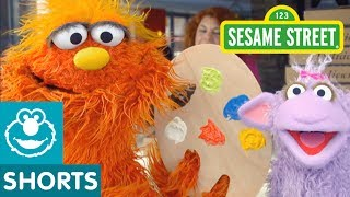 Join Murray and Ovejita at Art School to learn something new! What is your favorite kind of art?--Subscribe to the Sesame Street Channel here: http://www.youtube.com/subscription_center?add_user=SesameStreet For more fun games and videos for your preschooler in a safe, child-friendly environment, visit us at http://www.sesamestreet.org Sesame Street is a production of Sesame Workshop, a nonprofit educational organization. The Workshop produces Sesame Street programs, seen in over 150 countries, and other acclaimed shows, including The Electric Company.  Beyond television, the Workshop produces content for multiple media platforms on a wide range of issues including literacy and numeracy, emotional wellbeing, health and wellness, and respect and understanding.  Learn more at http://www.sesamestreet.org.