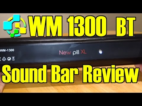 FSTgo WM 1300 Portable Bluetooth Sound Bar Speaker FM Radio