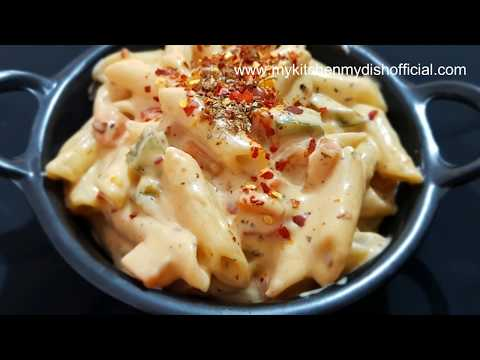White Sauce Pasta Recipe | Veg Mayonnaise Pasta Recipe | My Kitchen My Dish