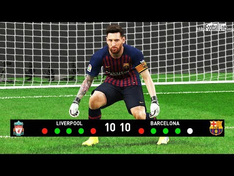PES 2019 | Goalkeeper MO SALAH Vs Goalkeeper L.MESSI | Penalty Shootout | Liverpool Vs Barcelona