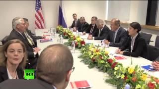 Сергей Лавров проводит встречу с Госсекретарем США Рексом Тиллерсоном