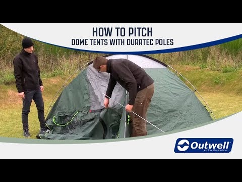 How to pitch a dome tent with Duratec poles | Innovative Family Camping