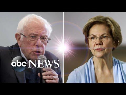 Bernie Sanders, Elizabeth Warren vie for top spot l ABC News