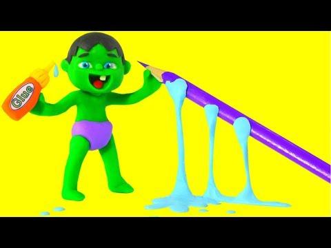 SUPERHERO BABIES MAKE HOME ACTIVITIES  Spiderman, Hulk & Frozen Elsa Play Doh Cartoons For Kids