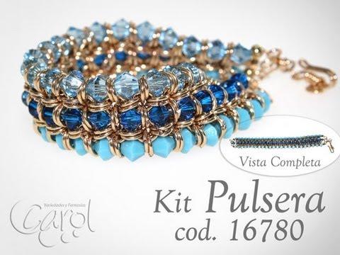KIT 16780  Kit pulsera argolla turquoise Parte1