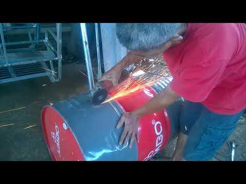 Cara Membelah Drum Bekas Menggunakan Grinda Cutting