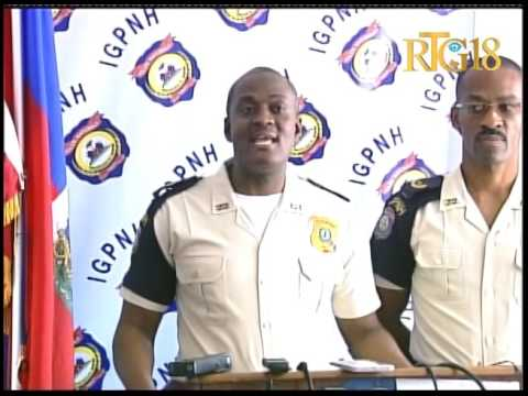 Inspection Générale de la Police Nationale d'Haïti (IGPNH) / Conférence de presse