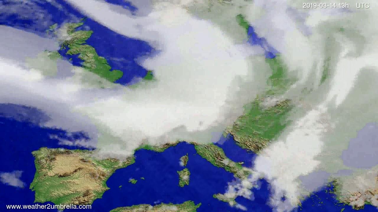 Cloud forecast Europe 2019-03-14