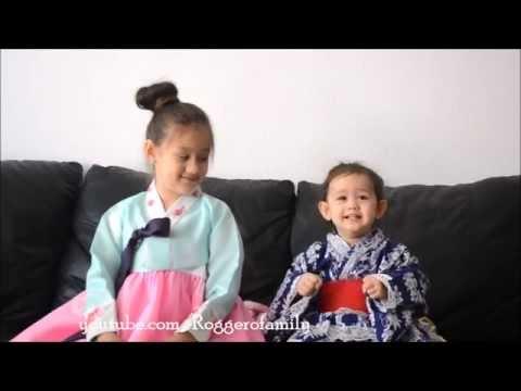 Camilla ThyThy hát tiếng Nhật và Hàn Quốc với em LyLy