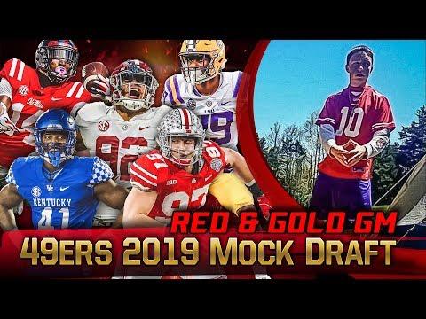 Live! 49ers Mock Draft 2019 - Ronbo Sports Red & Gold GM EP 9 - Thời lượng: 1:00:04.