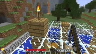 Minecraft Tutorials - 23b - How to Survive&Thrive (Mob Trap)