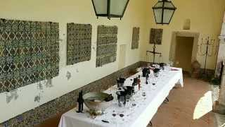 Tasting wine at Bacalhoa in Setubal in Portugal