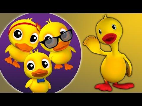 Fünf kleine Enten | Kinderreime | Baby reimt | 3d Rhymes For Kids | Five Little Ducks Rhyme