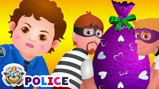 ChuChu TV Police Chase & Catch Thief in Police Car Save Giant ...