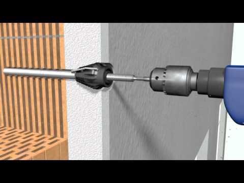 3D-Animation, Webdesign Frankfurt - Montage Schwerlastdübel der Fi. Berner