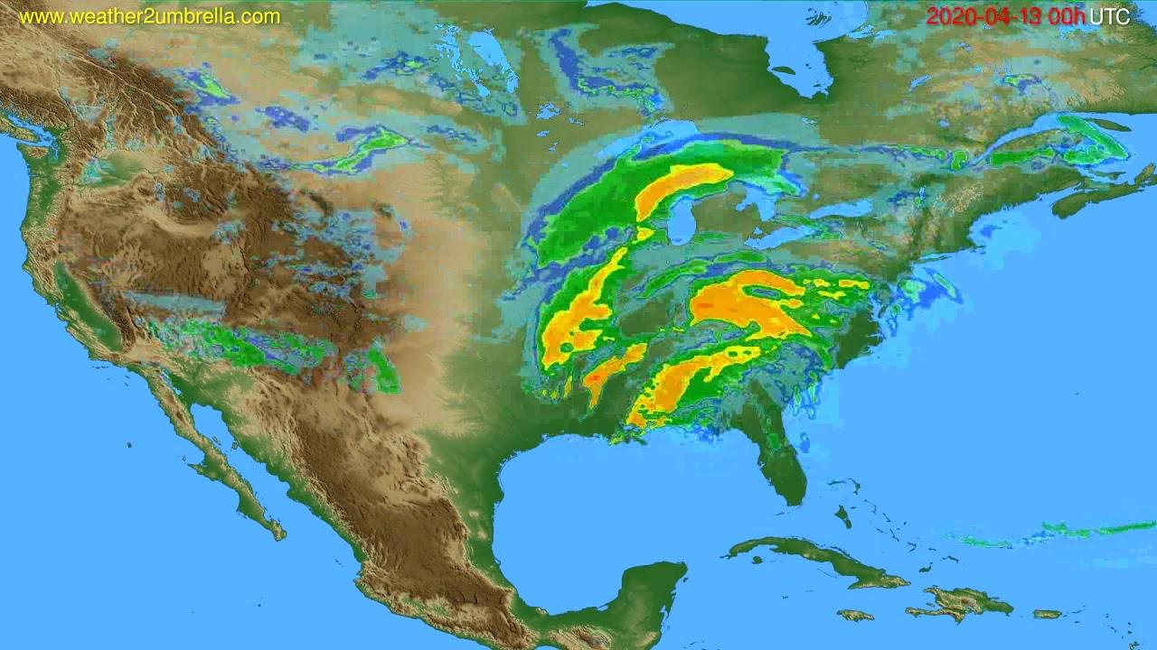 Radar forecast USA & Canada // modelrun: 12h UTC 2020-04-12
