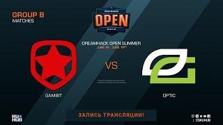 Gambit vs OpTic - DreamHack Open Summer - de_mirage [Donald, Anishared]