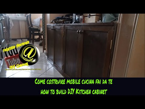 Costruzione Mobile cucina in legno fai da te (Tutorial how to build DIY wooden kitchen cabinet)
