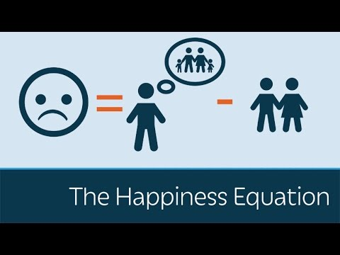 Video: Want to be happier? The equation is U=I–R