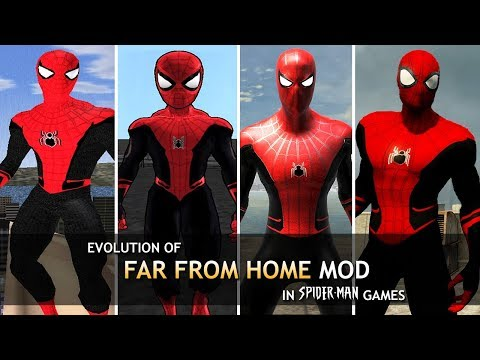 "Evolution of ""Far From Home"" Mods in Spider-Man Games! (2002-2014)"