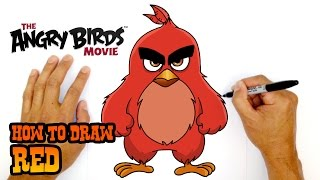 How to Draw Red (Angry Birds Movie)- Kids Art Lesson