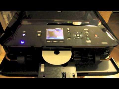 CANON PIXMA MG5450 DVD/CD bedrucken - Direct Disc Print - Direkt CD DVD drucken