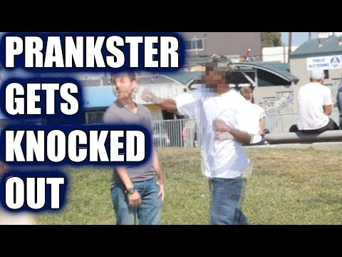 VIDEO: Prankster gets knocked out