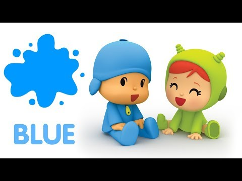 Learn the colors with Pocoyo BLUE    Educational Songs in English for Kids