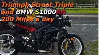 8. BMW S1000RR vs Triumph Street Triple - 200 miles a day